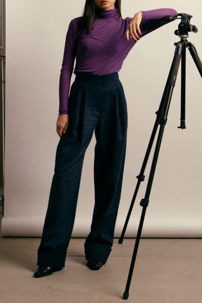 Широкие брюки из шерсти NM_416, фото 1 - в интеренет магазине KAPSULA