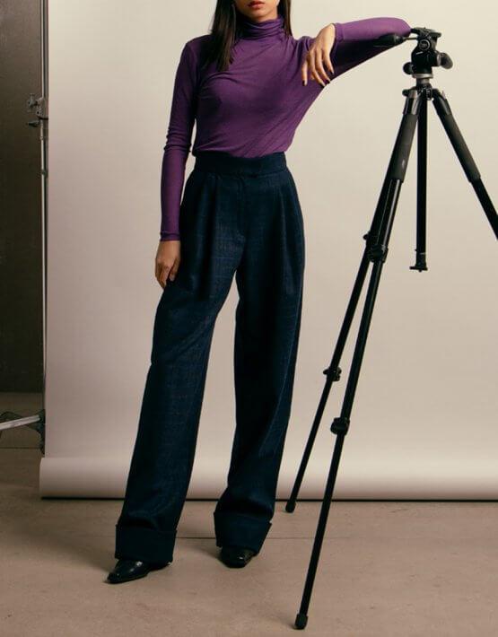 Широкие брюки из шерсти NM_416, фото 2 - в интеренет магазине KAPSULA