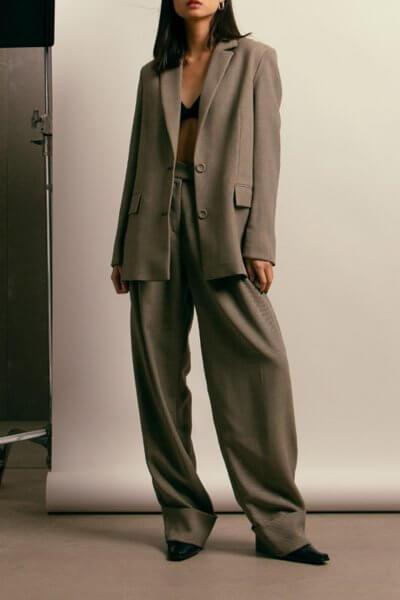 Широкие брюки из шерсти NM_417, фото 4 - в интеренет магазине KAPSULA