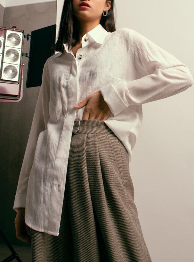 Широкие брюки из шерсти NM_417, фото 1 - в интеренет магазине KAPSULA