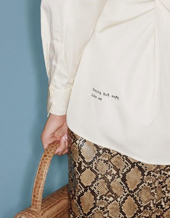 Хлопковая рубашка с защипами SAYYA_FW1065, фото 2 - в интеренет магазине KAPSULA