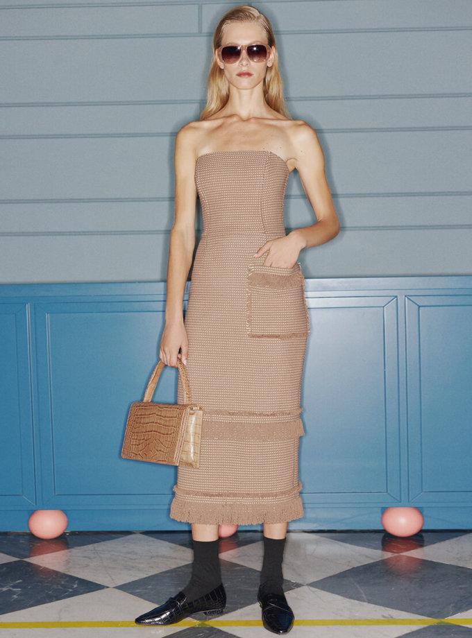 Платье-бюстье с бахромой SAYYA_FW1079, фото 1 - в интеренет магазине KAPSULA