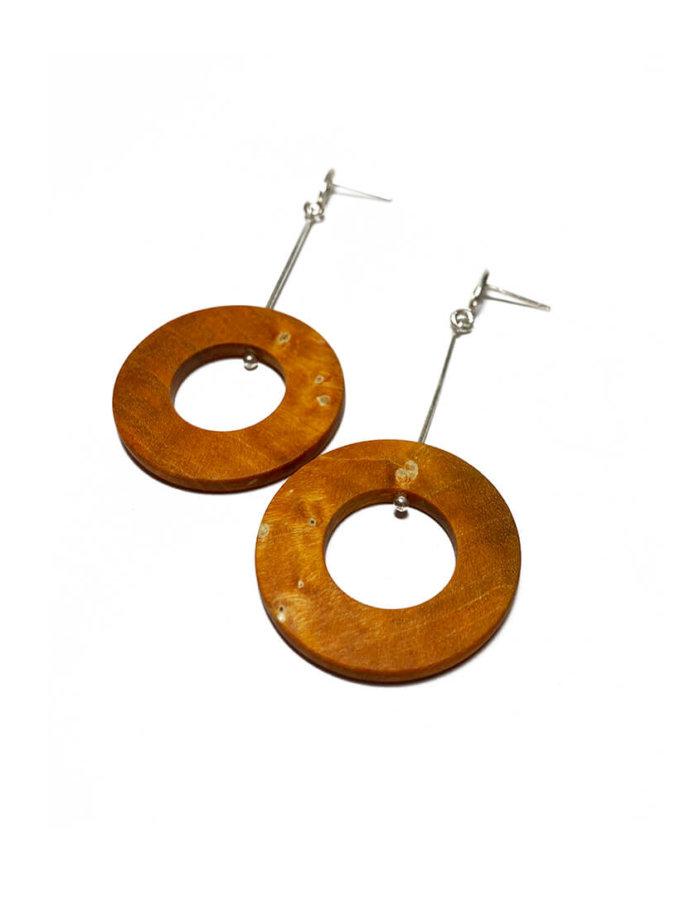 Серьги из дерева Zero SWJ_SW_EA_4, фото 1 - в интернет магазине KAPSULA
