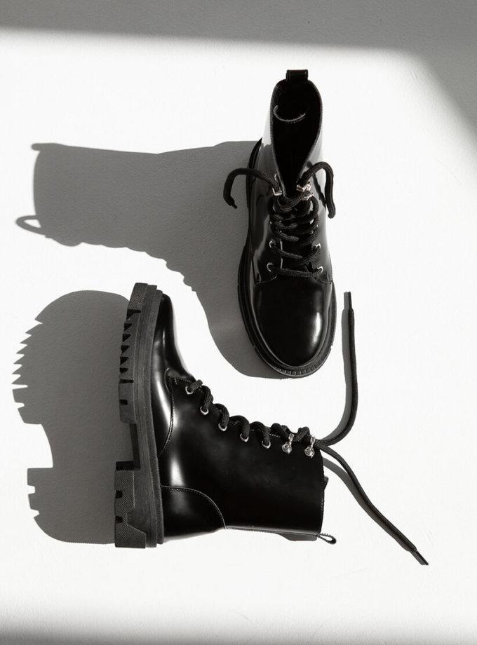 Лакові черевики на хутрі ED_BCL-z-01, фото 1 - в интернет магазине KAPSULA