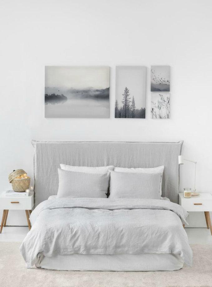 Двуспальный кoмплект из смягченного льна LOFT LIGHT GRAY MRND_k_l_6_1,5_two, фото 1 - в интеренет магазине KAPSULA