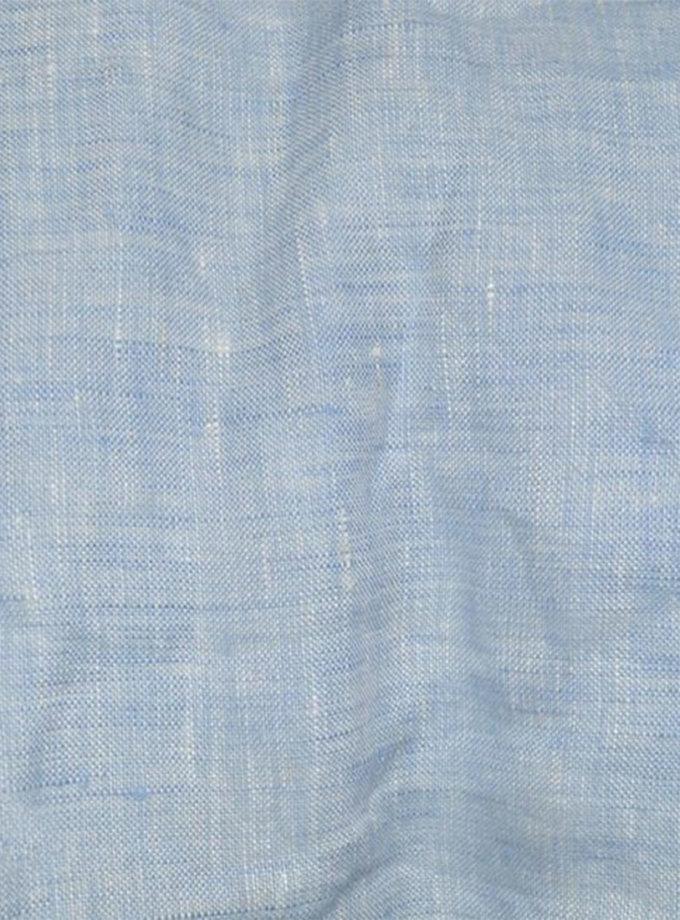 Кoмплект евро из смягченного льна LOFT MELANGE BLUE MRND_k_l_4_1,5_eur, фото 1 - в интеренет магазине KAPSULA