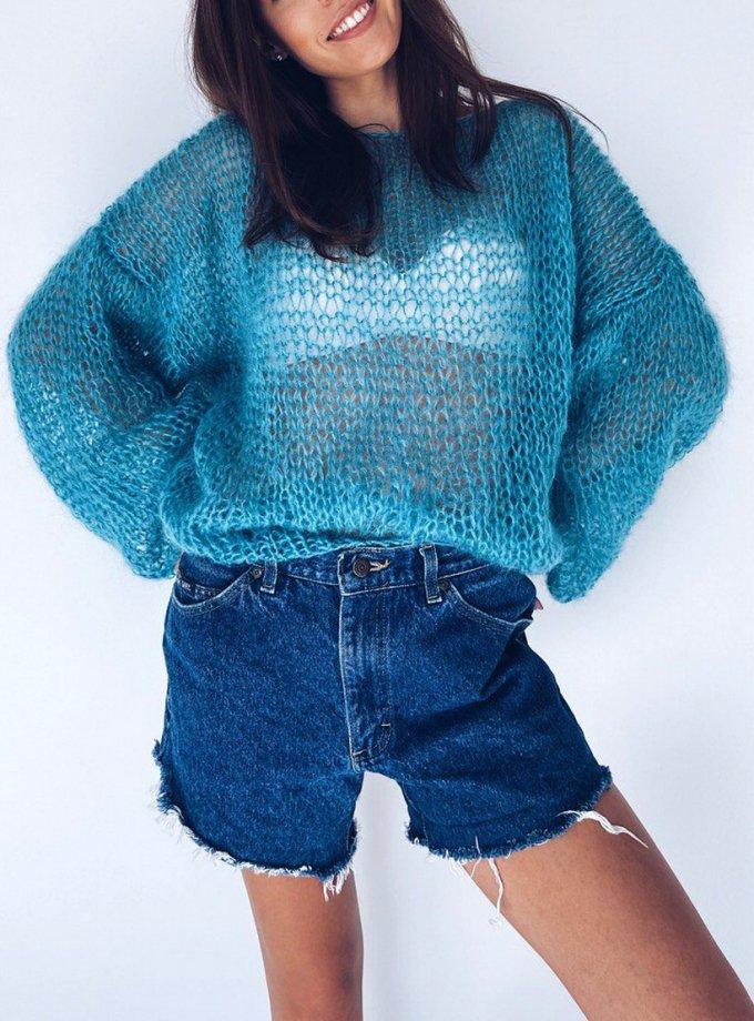 Объемный свитер из мохера WN_AIM10, фото 1 - в интеренет магазине KAPSULA