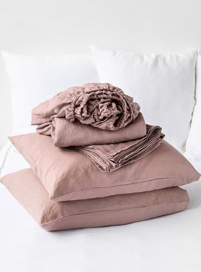 Двуспальный комплект белья Linen из льна LL_904_3, фото 1 - в интернет магазине KAPSULA