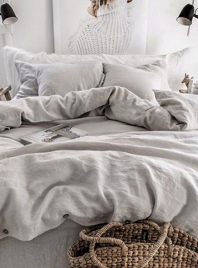 Комплект белья Euro Chiffon из льна LL_902_4, фото 1 - в интернет магазине KAPSULA