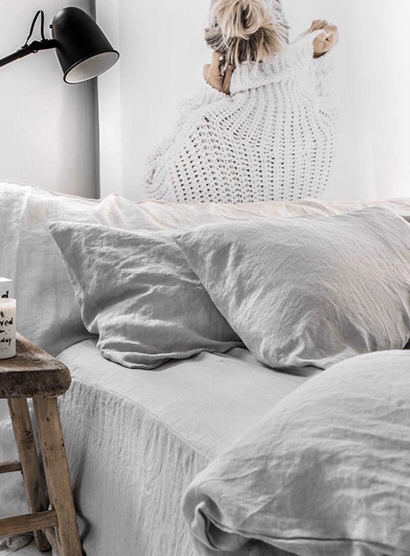 Комплект белья Euro Chiffon из льна LL_902_4, фото 1 - в интеренет магазине KAPSULA