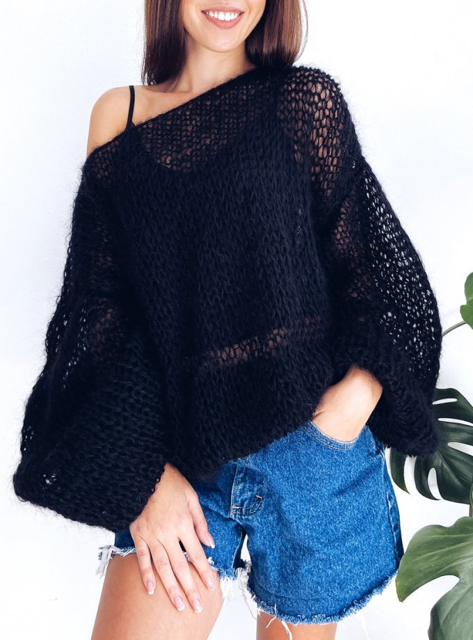 Объемный свитер из мохера WN_AIM09, фото 1 - в интернет магазине KAPSULA