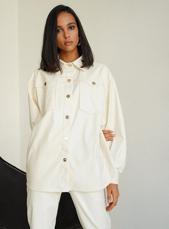 Рубашка Naomi из эко-кожи MC_MY3321, фото 1 - в интернет магазине KAPSULA
