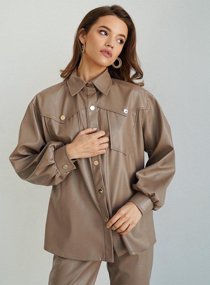 Рубашка Naomi из эко-кожи MC_MY3321-1, фото 1 - в интеренет магазине KAPSULA