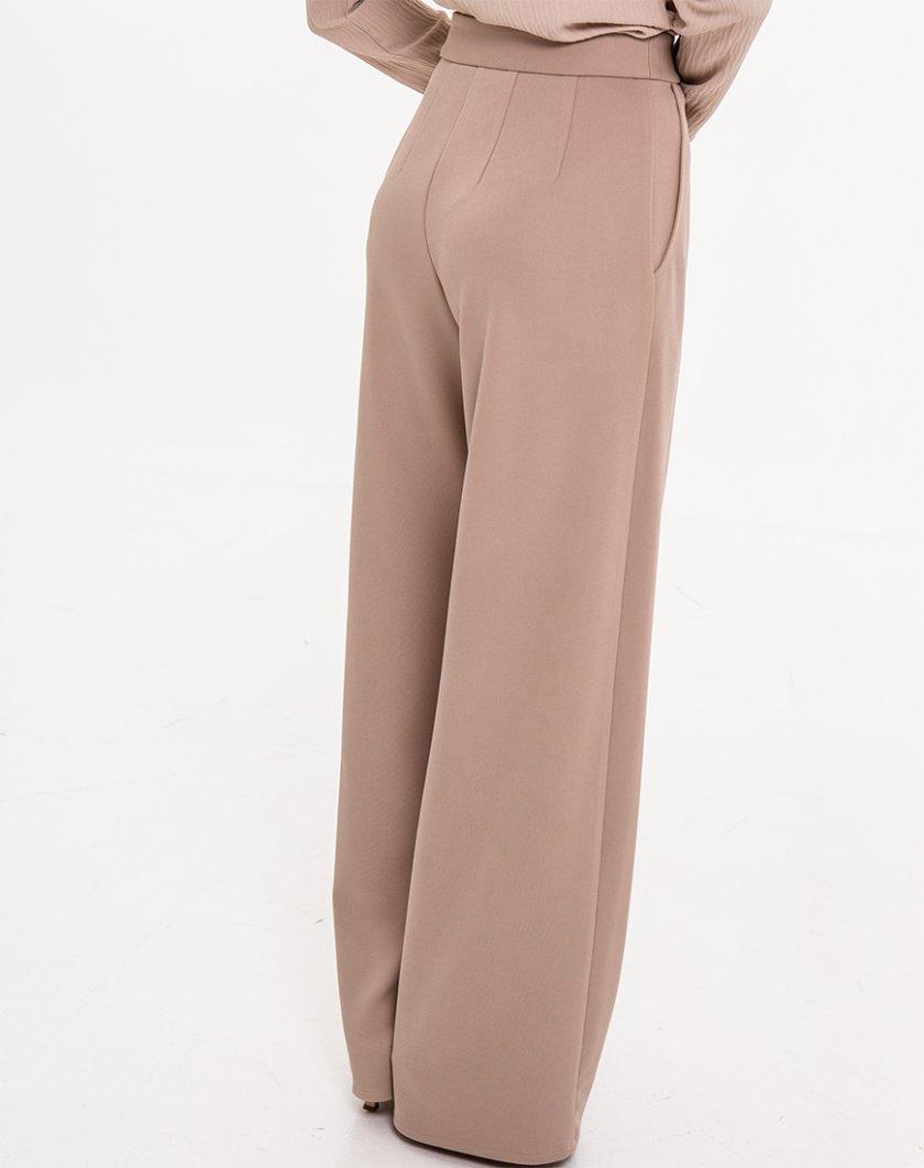 Широкие брюки на высокой посадке XM_Nat_20, фото 1 - в интеренет магазине KAPSULA