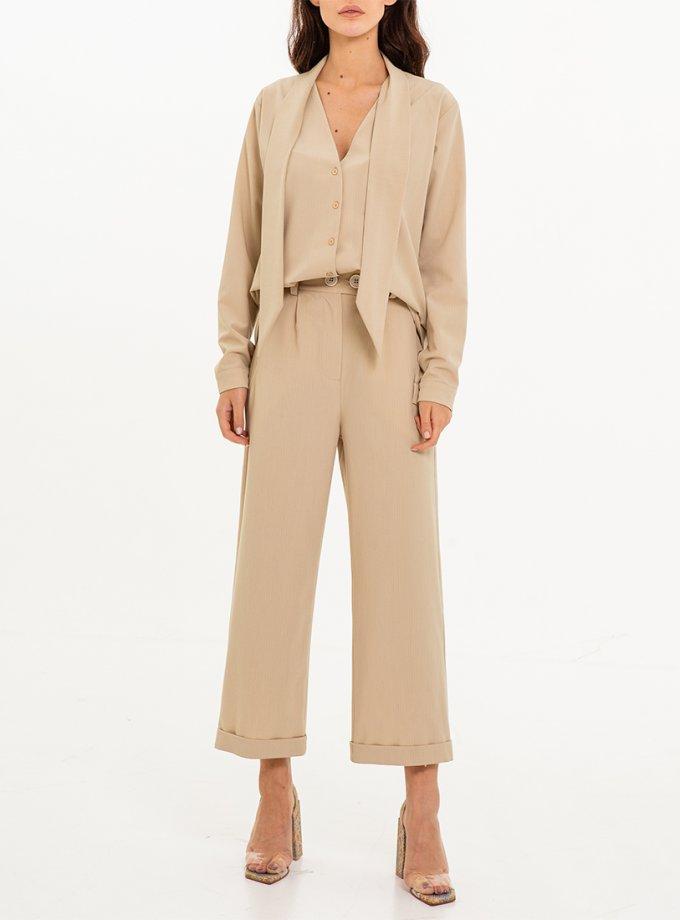 Прямые брюки в полоску XM_Nat_24, фото 1 - в интернет магазине KAPSULA