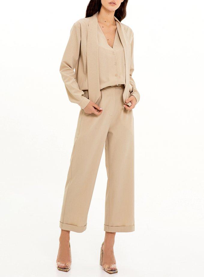 Прямые брюки в полоску XM_Nat_24, фото 1 - в интеренет магазине KAPSULA