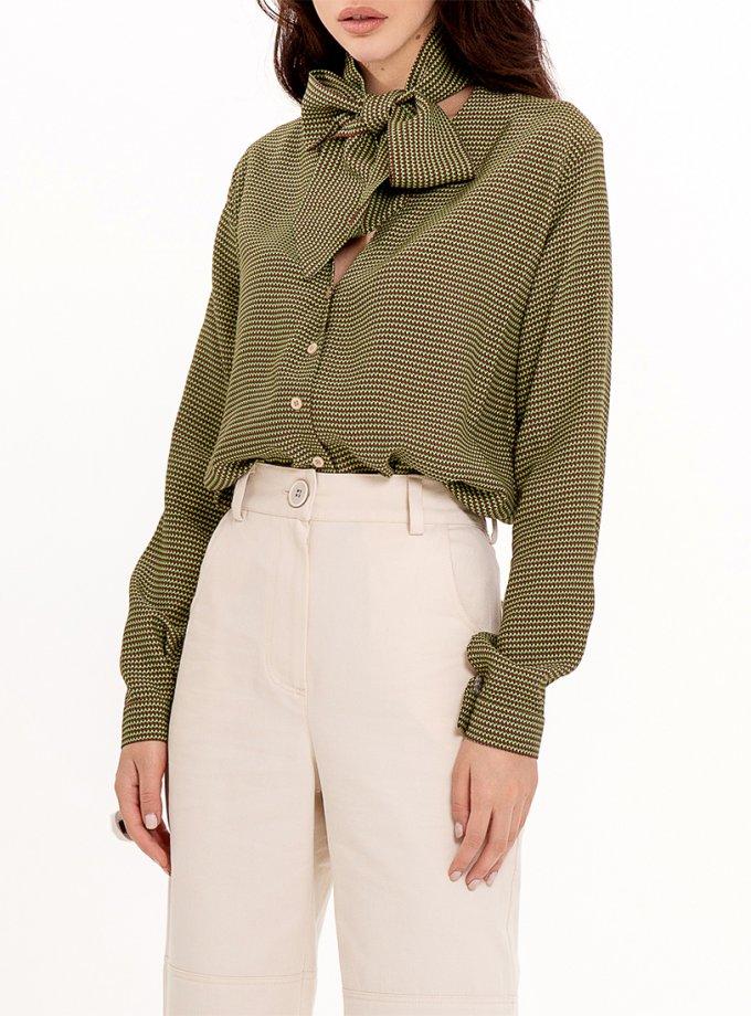 Блуза с декоративным шарфом XM_Nat_3, фото 1 - в интеренет магазине KAPSULA