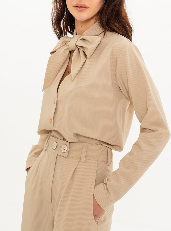 Блуза с декоративным шарфом XM_Nat_25, фото 1 - в интеренет магазине KAPSULA