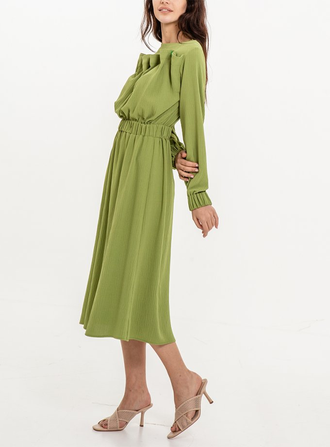Платье миди с резинкой на талии XM_Nat_27, фото 1 - в интеренет магазине KAPSULA
