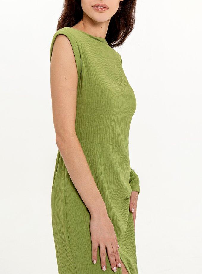 Платье миди со съемным рукавом XM_Nat_28, фото 1 - в интернет магазине KAPSULA