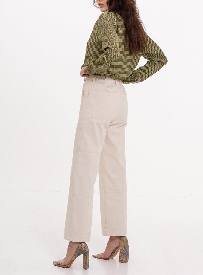 Хлопковые брюки прямого кроя XM_Nat_29, фото 1 - в интеренет магазине KAPSULA