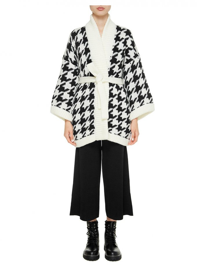 Укороченное пальто из шерсти NTK_pied-de-poul-w, фото 1 - в интеренет магазине KAPSULA