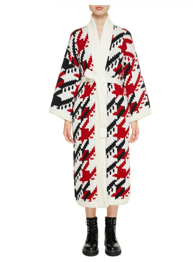 Пальто на запах из шерсти NTK_iskry, фото 1 - в интеренет магазине KAPSULA