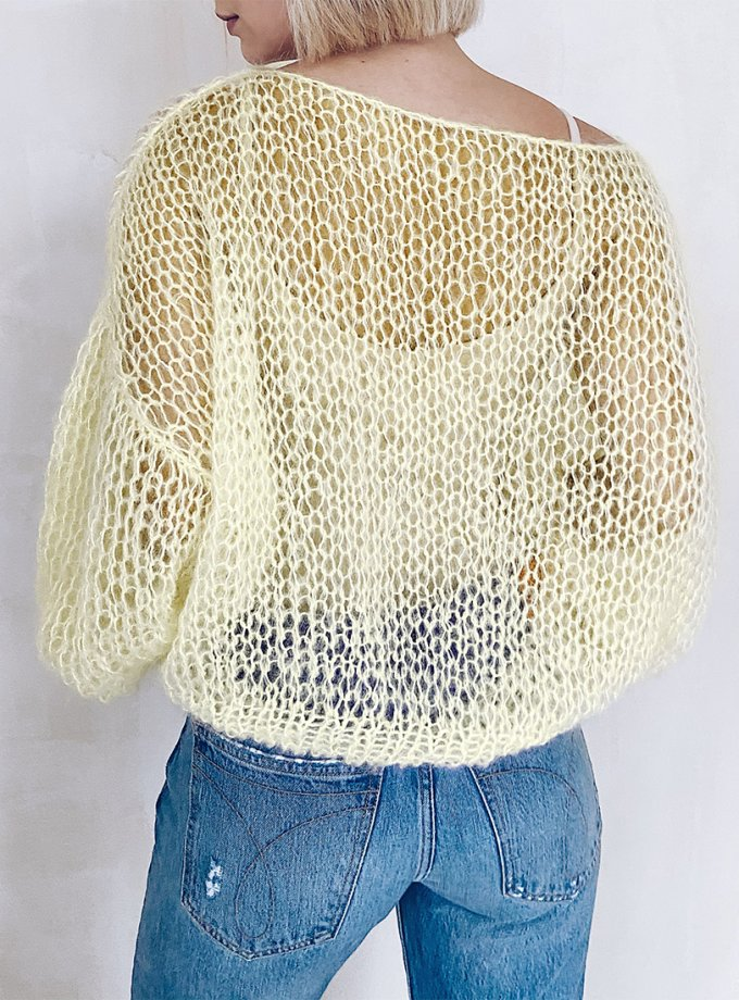 Объемный свитер из мохера WN_AIM05, фото 1 - в интеренет магазине KAPSULA
