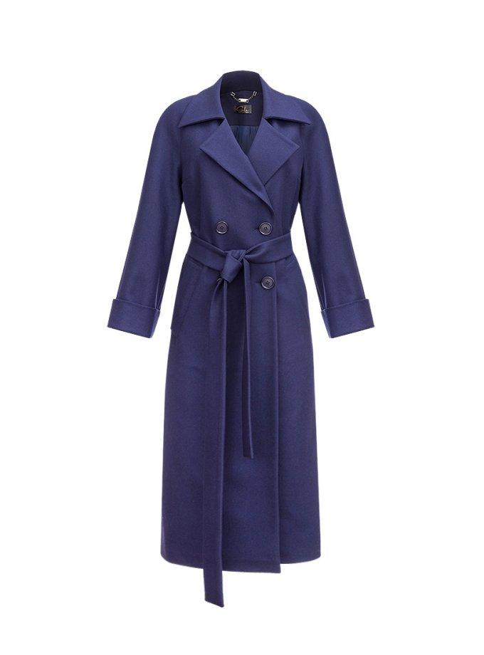 Пальто Navy из шерсти SOL_SOW_2020C07, фото 1 - в интеренет магазине KAPSULA