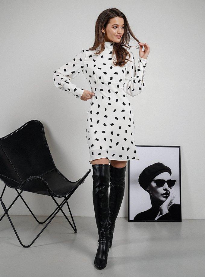 Платье Brie с объемными рукавами MC_MY2221, фото 1 - в интеренет магазине KAPSULA