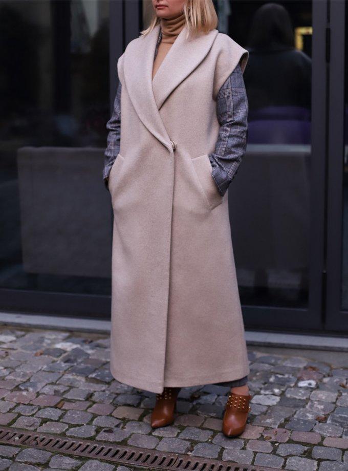 Пальто-жилетка из шерсти SOL_SOW_2020S02, фото 1 - в интеренет магазине KAPSULA