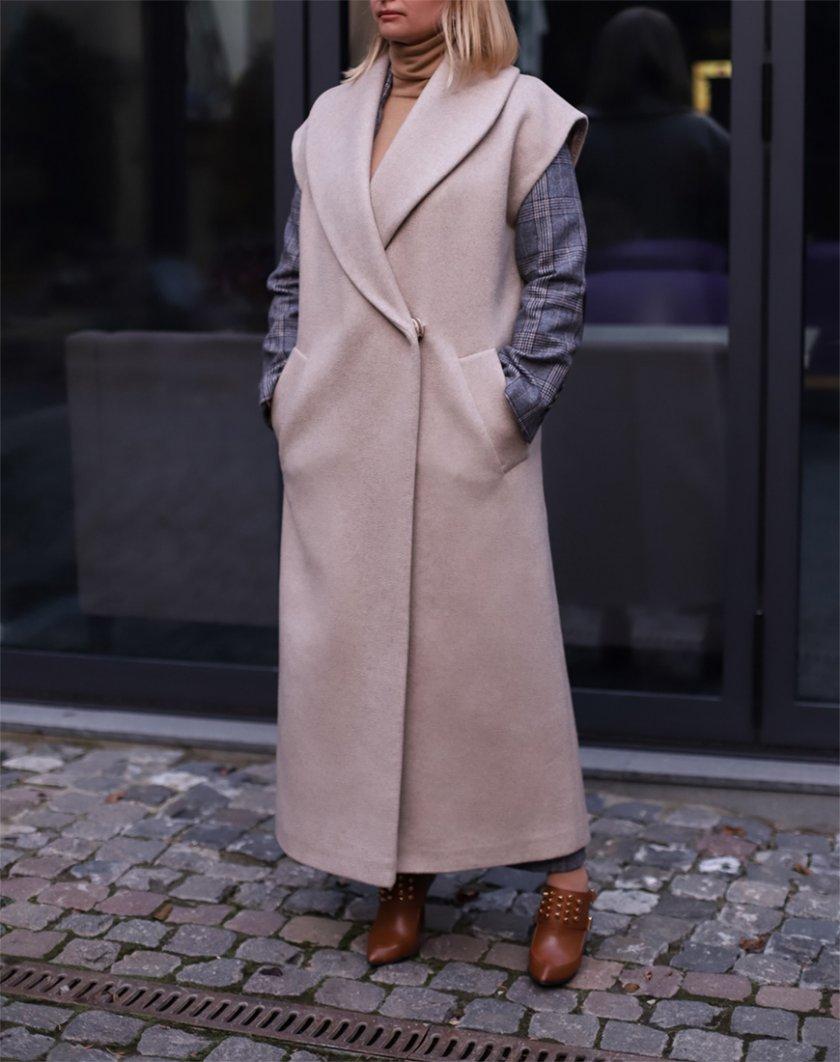 Пальто-жилетка из шерсти SOL_SOW_2020S02, фото 1 - в интернет магазине KAPSULA