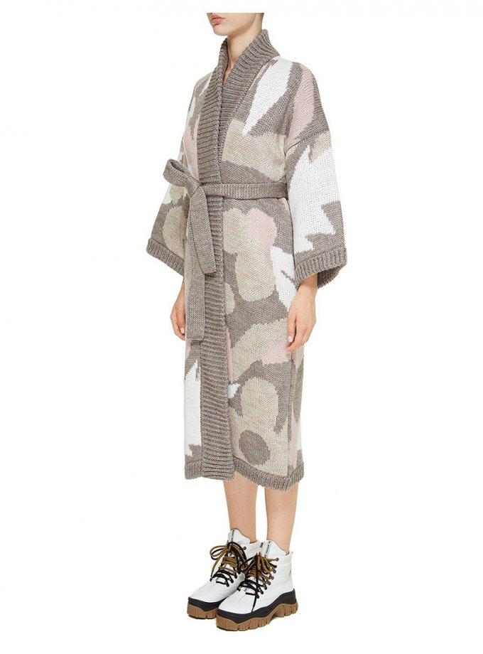 Пальто на запах из шерсти NTK_Kvity, фото 1 - в интеренет магазине KAPSULA