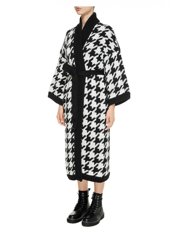 Пальто на запах из шерсти NTK_pied-de-poul-b, фото 1 - в интеренет магазине KAPSULA