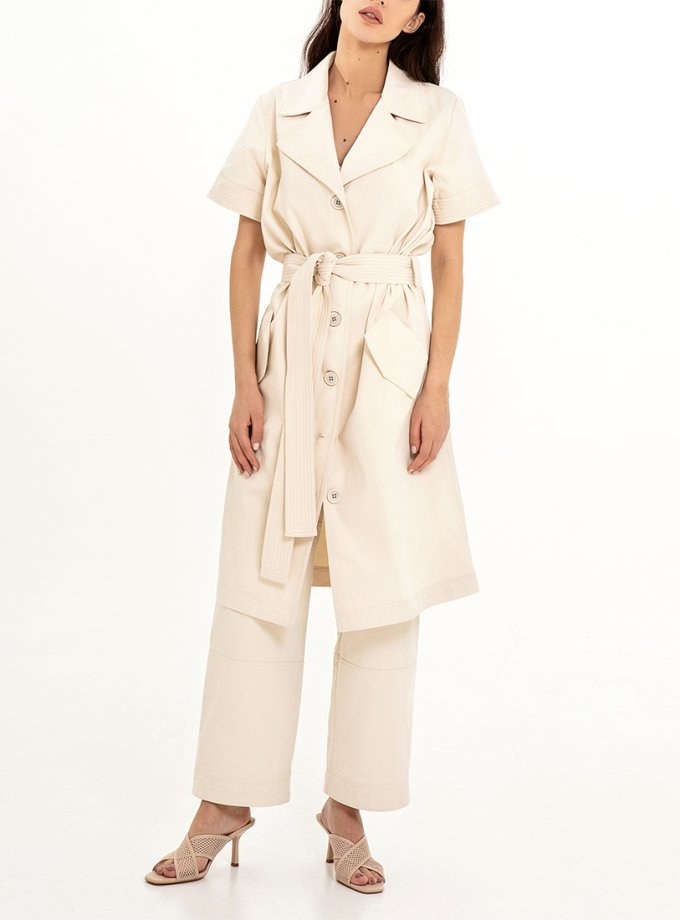 Платье-тренч со съемными рукавами XM_Nat_1, фото 1 - в интеренет магазине KAPSULA