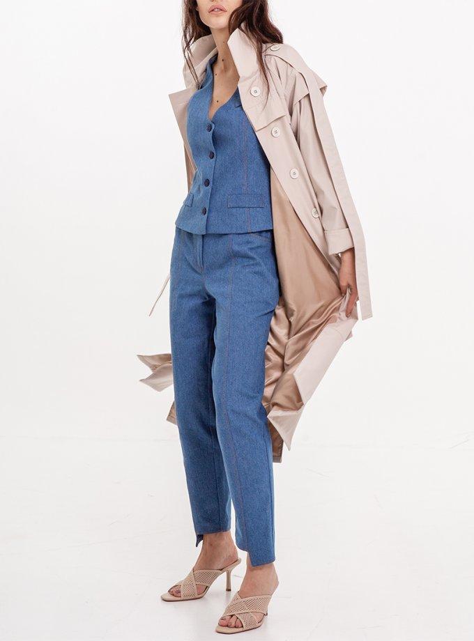 Джинсовые брюки со строчкой XM_Nat_9, фото 1 - в интеренет магазине KAPSULA