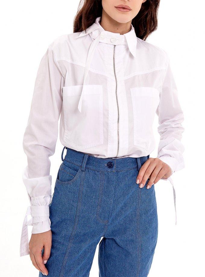 Хлопковая рубашка со съемным воротником XM-Nat_11, фото 1 - в интернет магазине KAPSULA