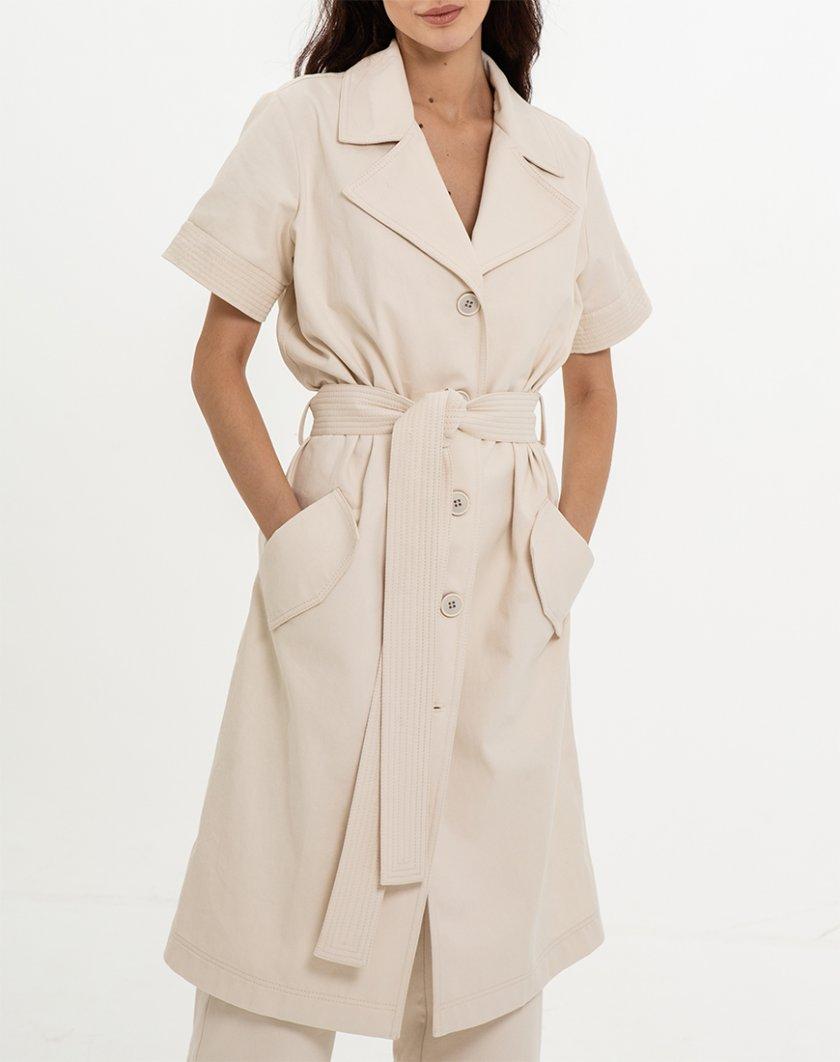 Платье-тренч со съемными рукавами XM_Nat_1, фото 1 - в интернет магазине KAPSULA