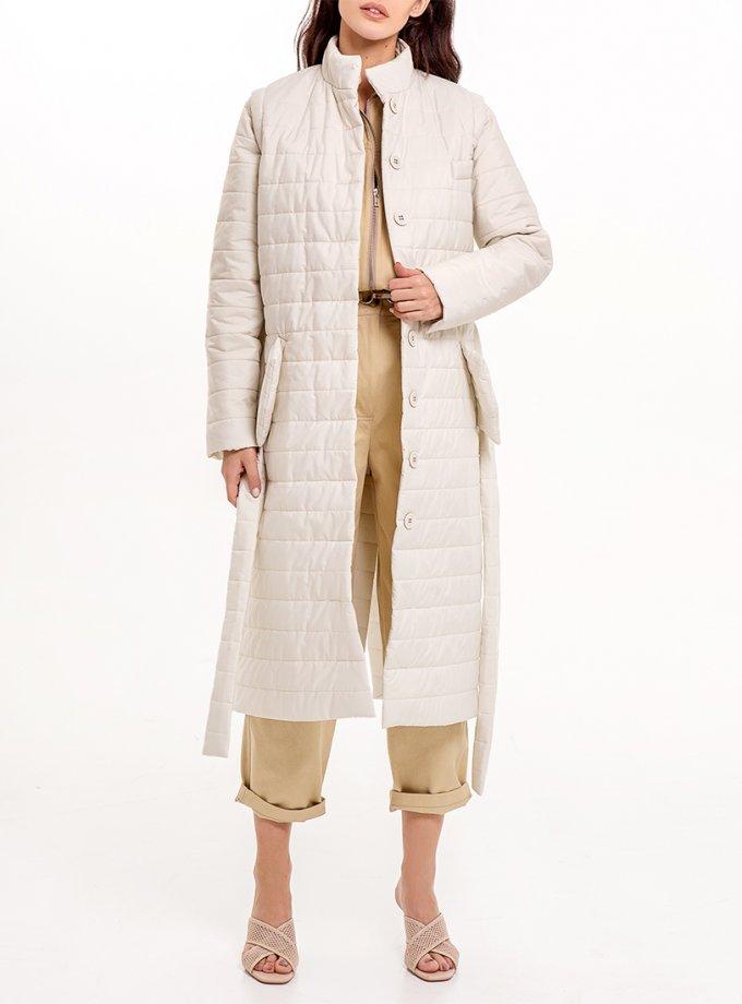 Стеганное пальто со съемными рукавами XM_Nat_16, фото 1 - в интеренет магазине KAPSULA
