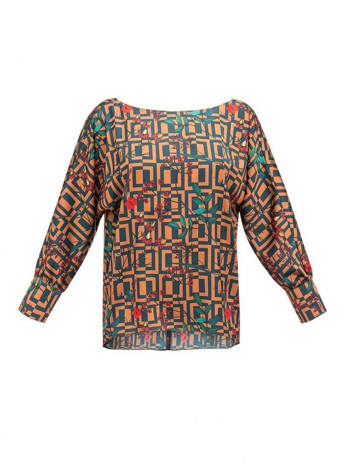 Блуза Graphics в принт SOL_SOW_2020В01, фото 1 - в интеренет магазине KAPSULA