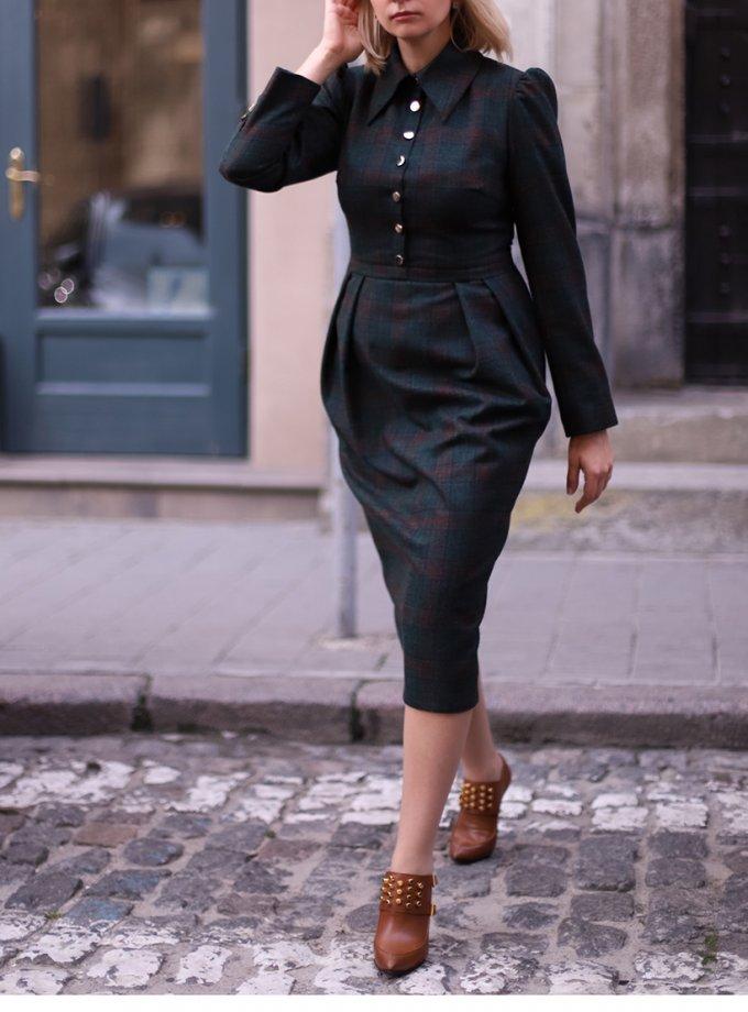 Платье Аvocado из шерсти SOL_SOW_2020D03, фото 1 - в интеренет магазине KAPSULA