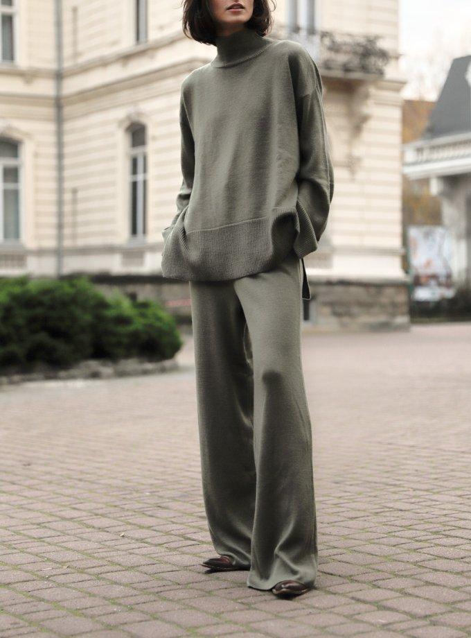 Костюм из шерсти с широкими брюками FRBC_FBКTov-polyn, фото 1 - в интеренет магазине KAPSULA