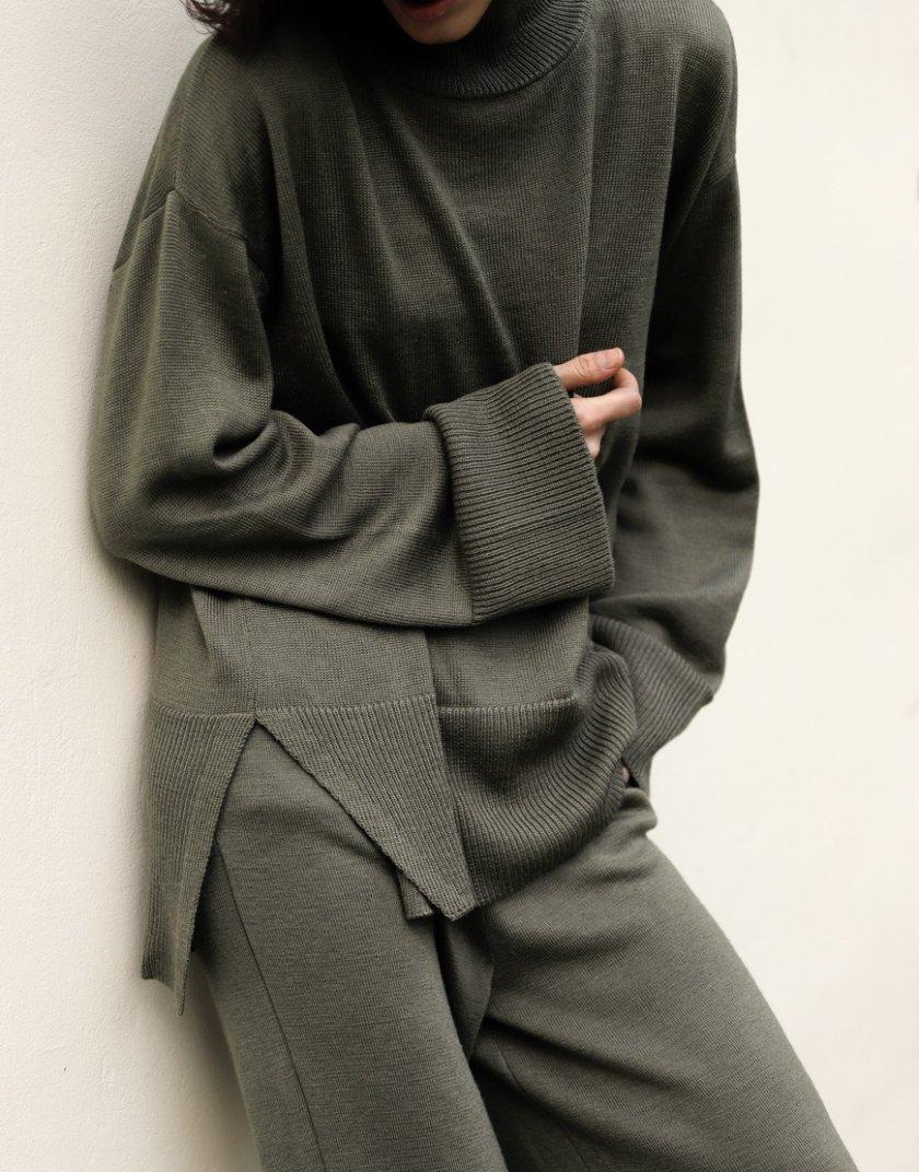 Костюм из шерсти с широкими брюками FRBC_FBКTov-polyn, фото 1 - в интернет магазине KAPSULA