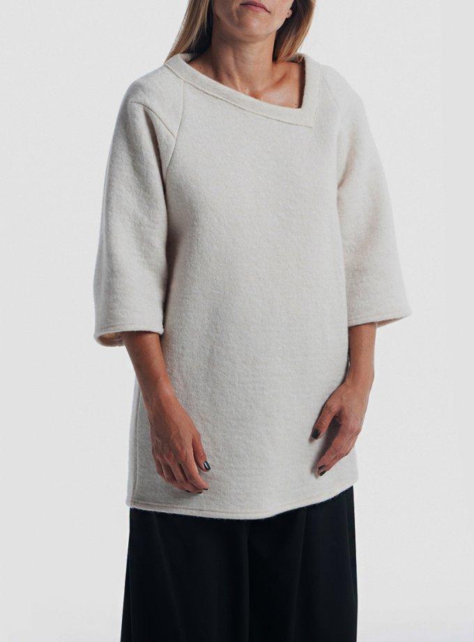 Шерстяной свитшот XOB с асимметричной горловиной FRM_XIM_04B_I, фото 1 - в интернет магазине KAPSULA
