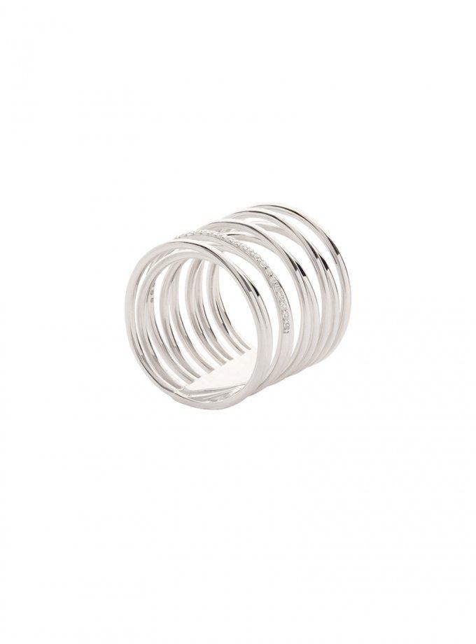 Серебряное кольцо INFINITY с фианитами AA_3K001-0002, фото 1 - в интеренет магазине KAPSULA