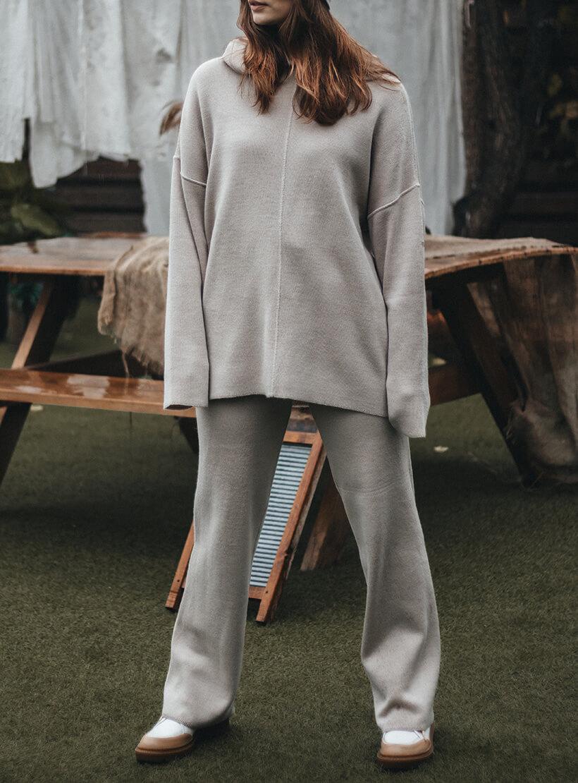 Брюки с карманами из шерсти KBL_2011-TROUSPOCKSWBEG, фото 1 - в интернет магазине KAPSULA
