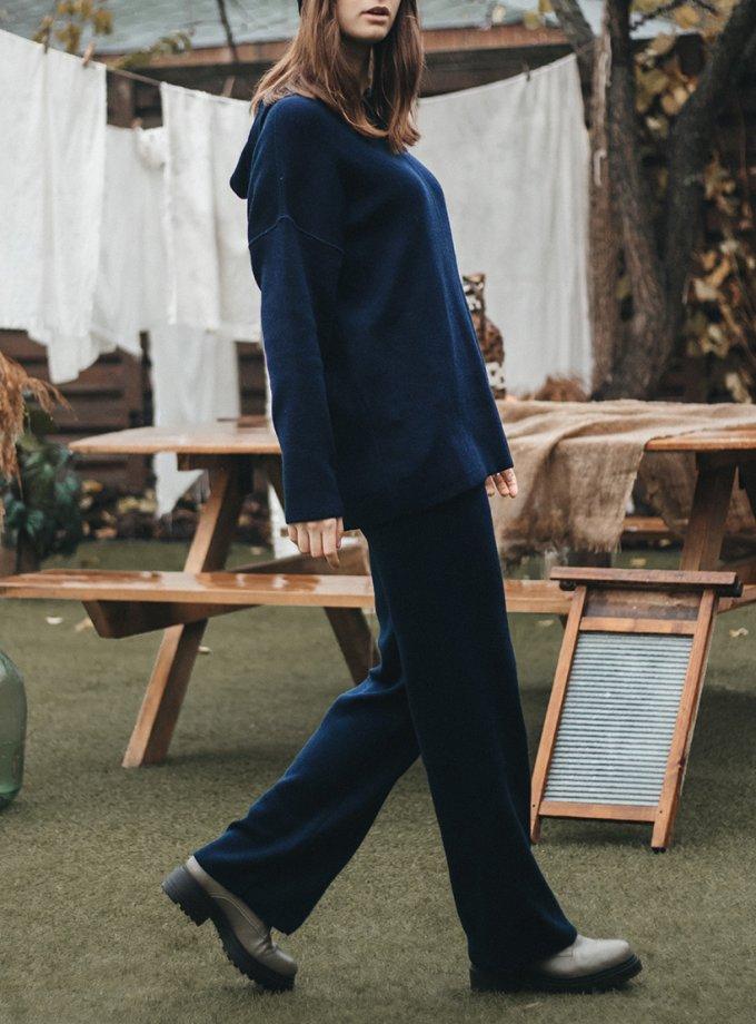 Брюки с карманами из шерсти KBL_2011-TROUSPOCKSWBLU, фото 1 - в интернет магазине KAPSULA