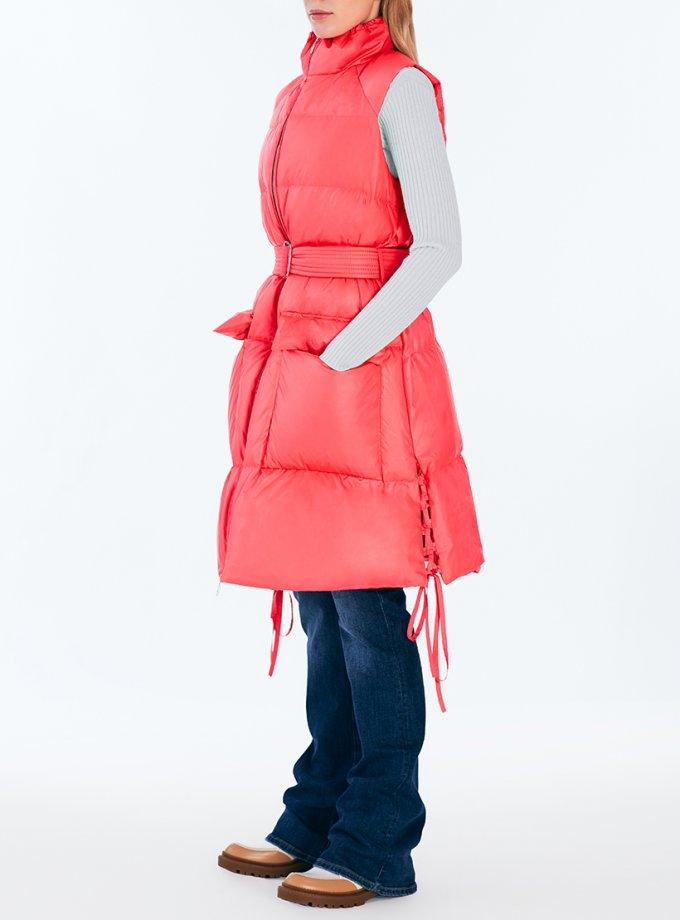 Пуховой жилет со шнуровкой Dance MRCH_Aqua-21-1_pink, фото 1 - в интеренет магазине KAPSULA