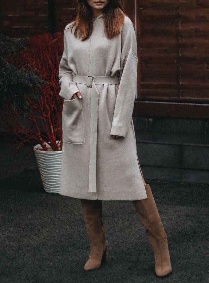 Платье из шерсти с капюшоном и поясом KBL_2011-DRESSHООDIBEG, фото 1 - в интернет магазине KAPSULA