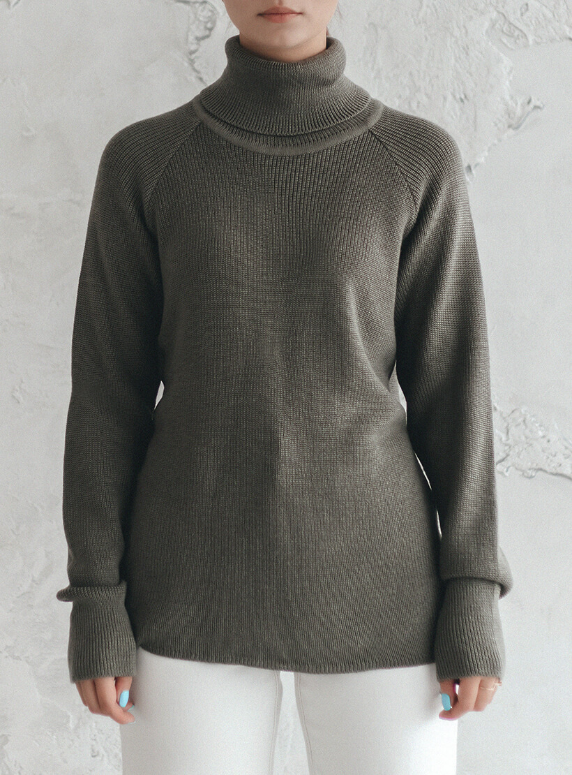 Свитер из шерсти с рукавом реглан NBL_2011-SWRAGWOOLGR, фото 1 - в интернет магазине KAPSULA